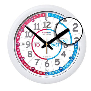 EasyRead Time Teacher Red/Blue Past & To Wall Clock (ERC-RB-PT)