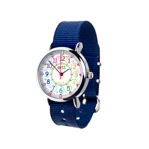 EasyRead Time Teacher Rainbow Face 24 Hour Watch (ERW-COL-24-NB)