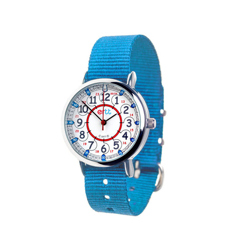 EasyRead Time Teacher 24 Hour Watch – Red & Blue Face – Blue Strap