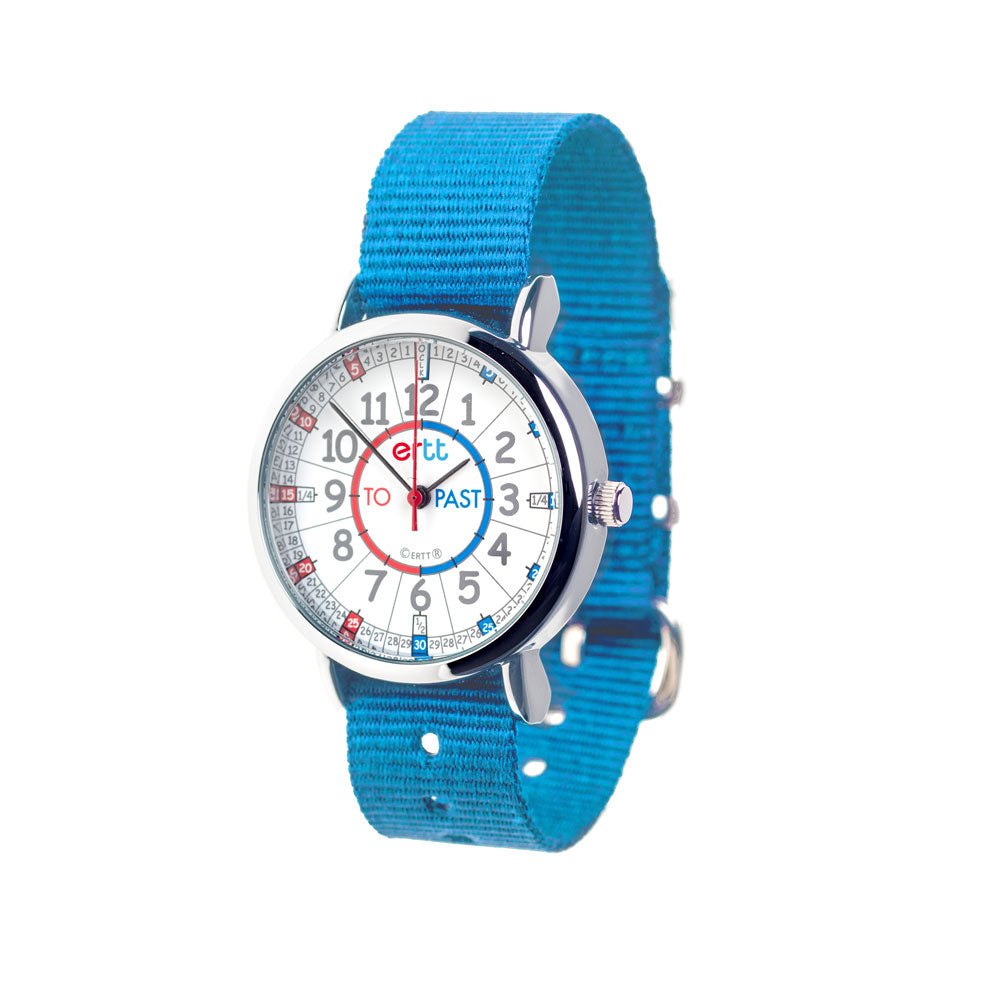 EasyRead Time Teacher Past & To Watch - Red & Blue Face – Blue Strap