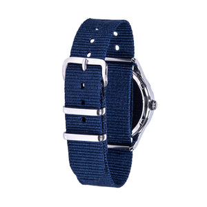 Waterproof Watch – Rainbow Face Past & To – Navy Strap