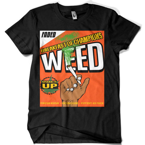 Breakfast of Champions Weed T-shirt - billionaire dropouts