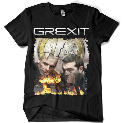 Grexit the Collapse of the Euro T-shirt - billionaire dropouts