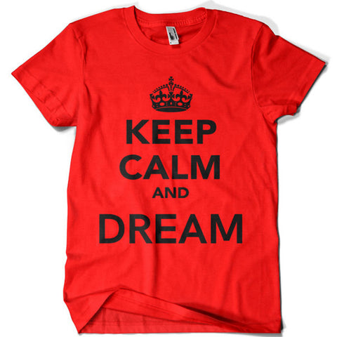Keep Calm and Dream T-shirt - billionaire dropouts
