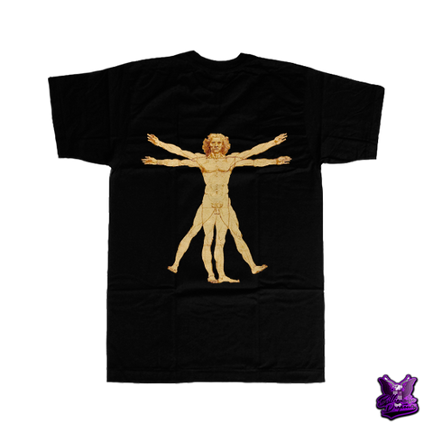 Anatomy of the Human Body by Da Vinci T-shirt - billionaire dropouts