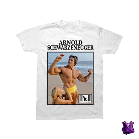 Arnold Schwarzenegger at the Beach T-shirt - billionaire dropouts