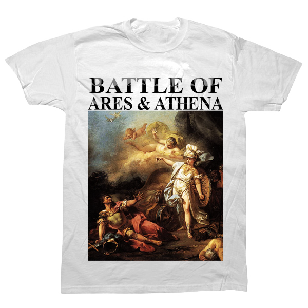 Battle of Ares and Athena T-shirt - billionaire dropouts