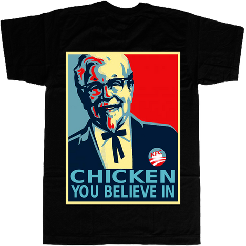 Chicken You Believe in T-shirt - billionaire dropouts