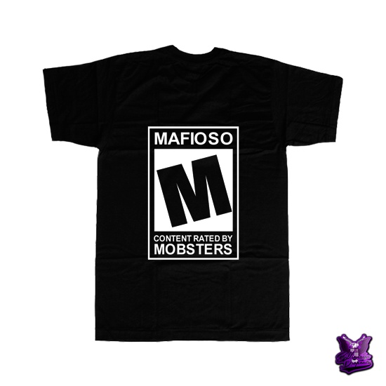 Content Rated by Mobsters Black T-shirt - billionaire dropouts