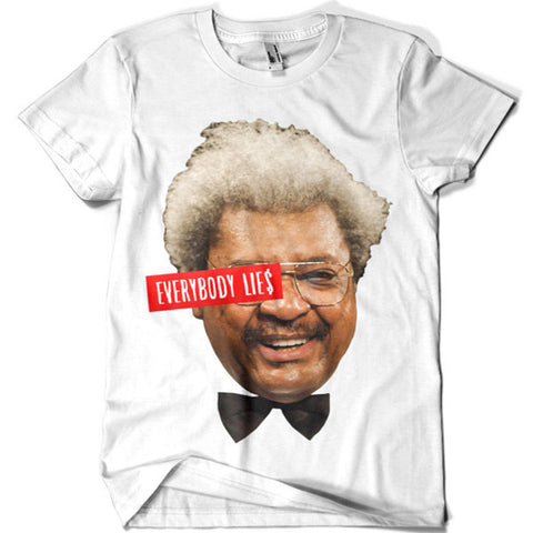 Don King Everybody Lies T-shirt - billionaire dropouts