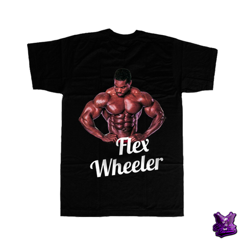 Flex Wheeler Posing T-shirt - billionaire dropouts