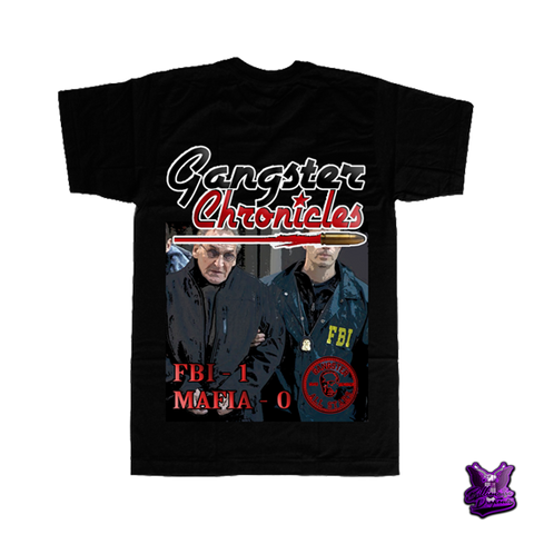Gangster Chronicles FBI 1 Mafia 0 T-shirt - billionaire dropouts
