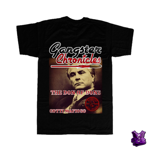 Gangster Chronicles John Gotti T-shirt - billionaire dropouts