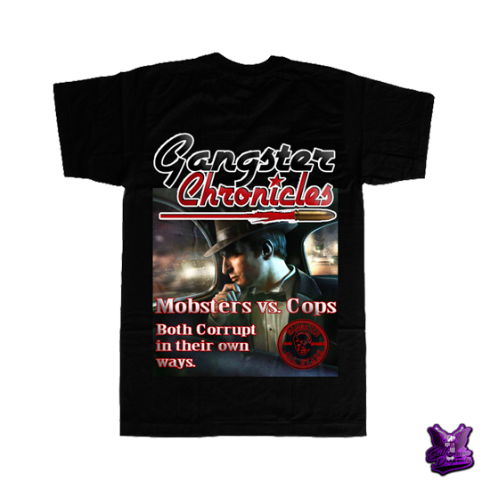 Gangster Chronicles Mobsters vs Cops T-shirt - billionaire dropouts