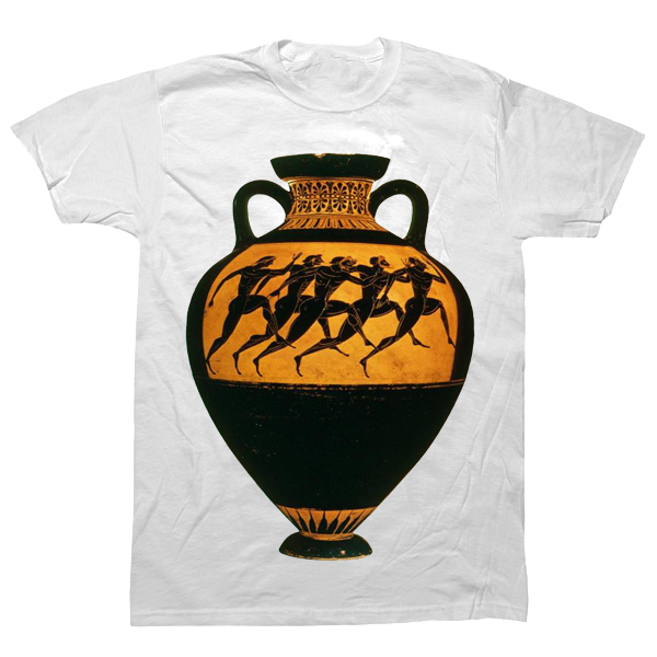 Olympics on Greek Vase T-shirt - billionaire dropouts