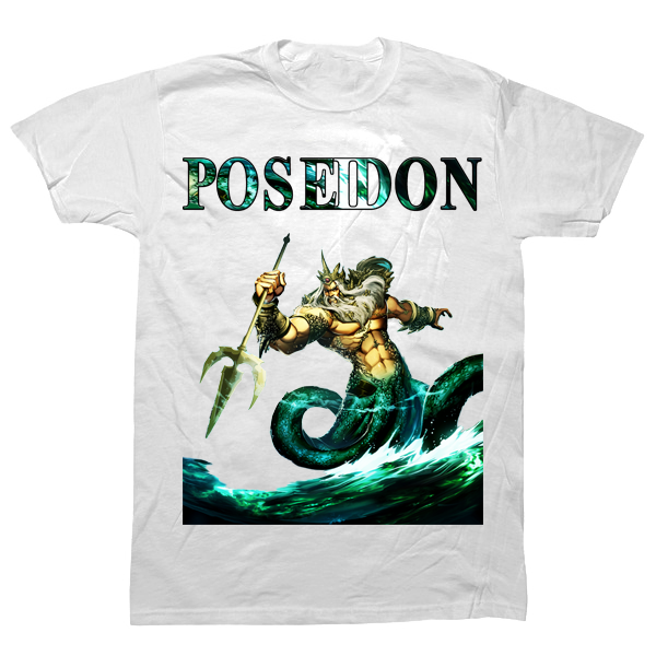 Poseidon God of the Sea T-shirt - billionaire dropouts