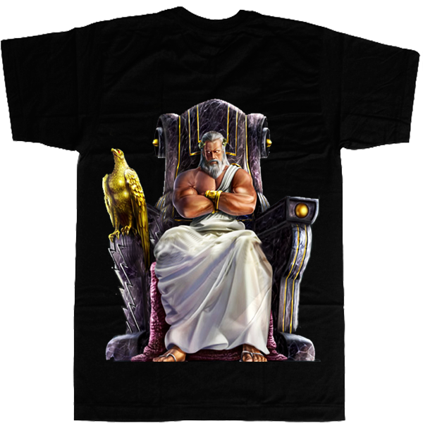 Zeus on Throne T-shirt - billionaire dropouts