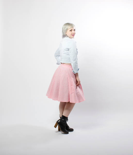 Striped Vintage Textile Circle Skirt | Jolene