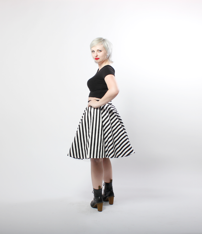 Striped Vintage Style Circle Skirt | Lydia