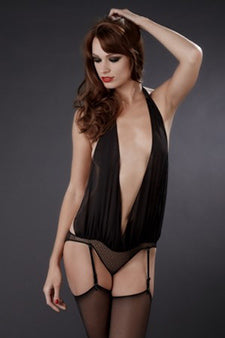 Music Hall Draped Bodysuit from Maison Close
