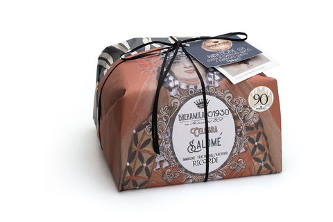 BreraMilano1930 Linea Ricordi Panettone with Chestnuts Cream and Candied Chesnut pieces - Marron Glaces Salome 750g