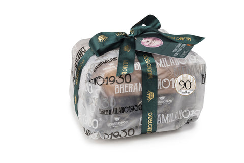 BreraMilano1930 Linea Satinati Panettone with Pear cubes and Chocolate chips 500g