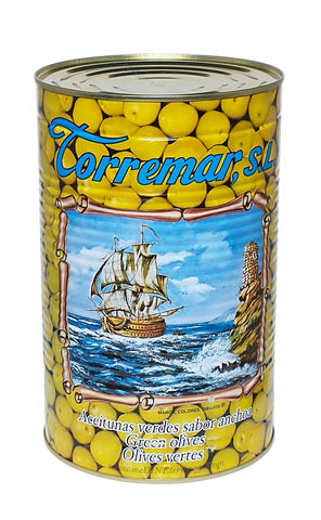 Torremar Whole Green Manzanilla Olives Anchovy Flavor 01