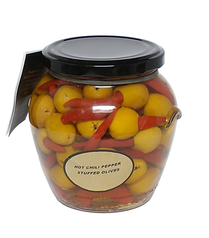 Torremar Hot Chili Pepper Guindilla Stuffed Manzanilla Olives 580g Orcio 01