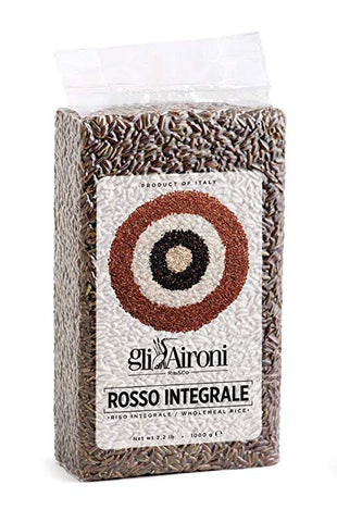 Whole Grain Red Italian Rice - Selvatico Rosso - Gli Aironi