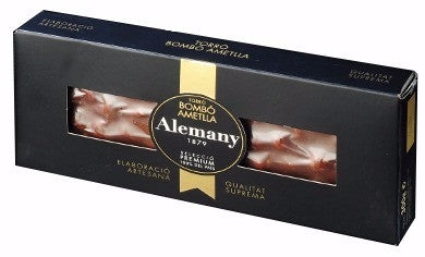 Chocolate and Almond Nougat Candy (Turron) - Alemany