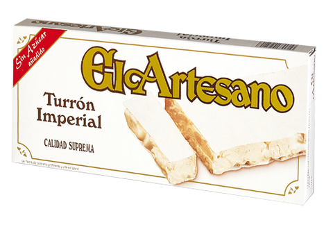 El Artesano Hard Almond Nougat No Sugar Added - Turrón de Alicante