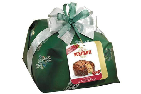 Bonifanti Panettone with Cranberries (Mirtilli Rossi) - Bonifanti