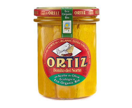 Ortiz Bonito del Norte white Tuna in Organic Extra Virgin Olive Oil