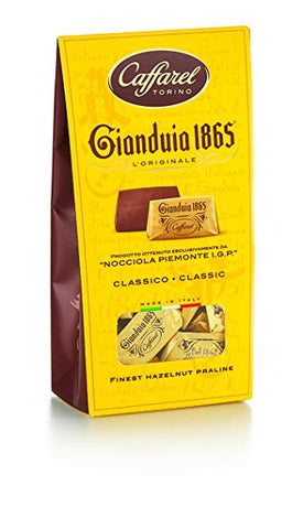 Gianduja Hazelnut Milk Chocolates - Gianduiotto 1865 - Caffarel