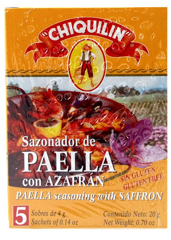 Chiquilin Paella Seasoning with Saffron