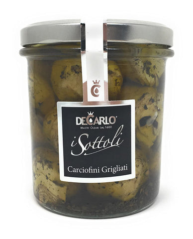 De Carlo Grilled Baby Artichokes in Extra Virgin Olive Oil