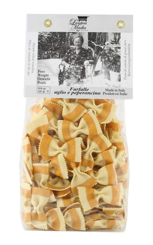 Antica Madia Farfalle Pasta with Garlic and Chili