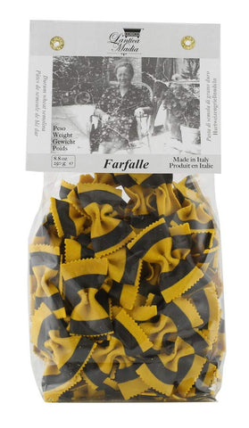 Farfalle Pasta with Turmeric and Squid Ink - L'Antica Madia
