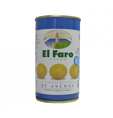 El Faro Green Olives Stuffed with Anchovies - Faroliva