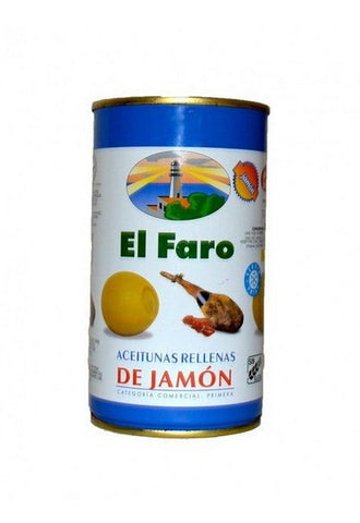 El Faro Green Olives Stuffed with Ham - Faroliva