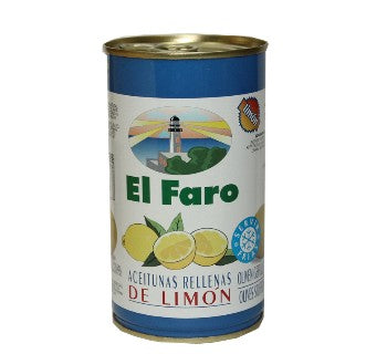 El Faro Green Olives Stuffed with Lemon - Faroliva