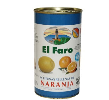 El Faro Green Olives Stuffed with Orange - Faroliva