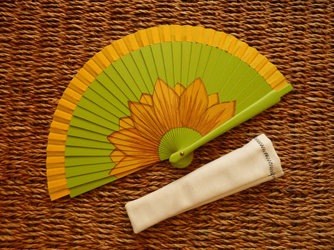 Spanish Handheld Fan (Spanish abanico) - Inspired floral design - Medineterranean