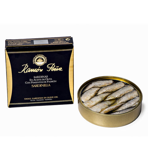 Ramon Peña Sardines in Olive Oil with Padron Peppers - Ramon Peña