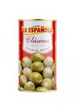 La Española Green Olives Stuffed with Anchovies - Medineterranean