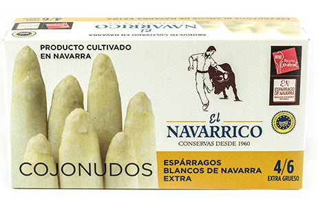 White Asparaguses Designation of Origin Navarra Extra Thick 4-6 units - El Navarrico