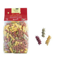 Gluten-free Riccioli Pasta with Spinach and red Beet - L'Antica Madia