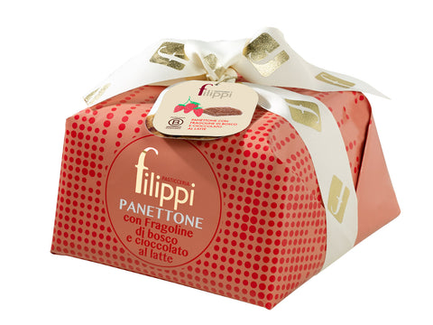 Filippi Panettone Wild Stawberries and Milk Chocolate 1000g