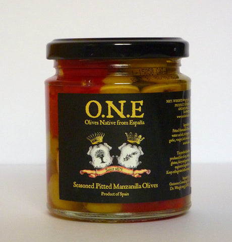 Seasoned pitted Manzanilla Olives - O.N.E.