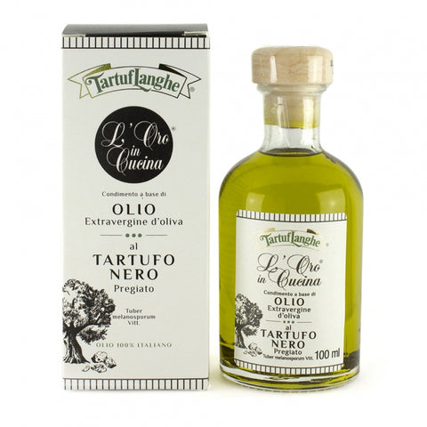 Tartuflanghe - Oro in Cucina - Extra Virgin Olive Oil with Black Winter Truffle Slices 100 ml